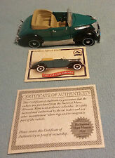 National Motor Museum Mint ~ 1937 V-8 Club Cabriolet With COA