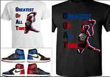 EXCLUSIVE TEE/T-SHIRT 1 TO MATCH AIR JORDAN 1 TOP 3/BANNED BREDS/ROYALS/CHICAGOS