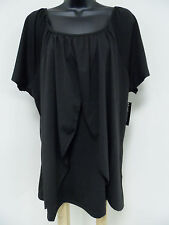 Plus Size 1X  PEASANT Top PRINCESS OVERLAYS Shirt STRETCH Blouse Trendy  NWT