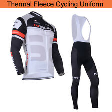 Thermal Fleece Lined Mens Cycling Jersey Jackets Bib Pants Troursers Winter Warm