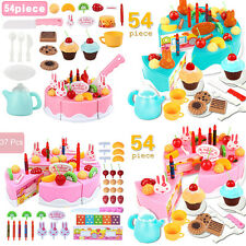 Kid DIY Early Educational Toy Pretend Role Play Toy Cake Food Cutting Set Gift T
