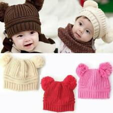Cute Baby Toddler Kids Boy Girl Winter Warm Crochet Knit Beanie Hat Cap Earflap