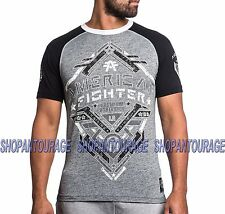 AMERICAN FIGHTER Bates FM3423 Men`s New Grey T-shirt By Affliction