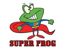 Custom Made T Shirt Super Frog Hero Cape Funny Kids Boys Toddlers Infants Silly