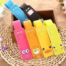 Lovely Silicone Travel Luggage Tags Baggage Suitcase Bag Labels Name Address SP