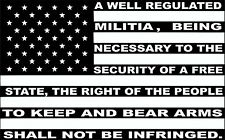 2nd AMENDMENT USA FLAG CAR WINDOW DECAL...PICK YOUR SIZE AND COLOR