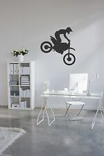 Motorcycle motocross vinyl wall sticker decal stunt dirt bike deco home garage