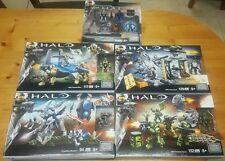 Halo Mega Bloks Lot of 4 Building Sets with one  Mini Figures Set of 4