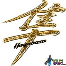 Custom Printed Kanji Decal Set fits 1999-2007 Hayabusa - Molten Gold