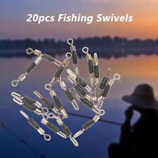 Rolling Fishing Swivels Hook Connectors Stainless Steel Tackle 20pcs New S2M9