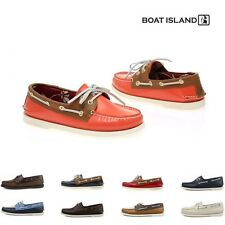 Boat Island Moc Toe Leather Deck Shoe Mens Boat Shoes Driving Moccasin Loafer