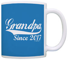 Father's Day Gifts for Since 2017 New Grandpa Coffee Mug Tea Cup