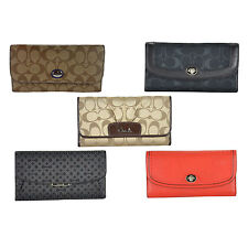 NWT Auth Coach Ashley Madison Signature Op Art Peyton Checkbook Wallet