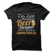 Just A Beer Drinker With a Camping Problem - Funny T-Shirt