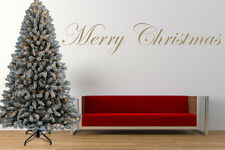 Merry Christmas Quote, Wall Art Stickers, Mural, Decal. Window, Mirror Decor