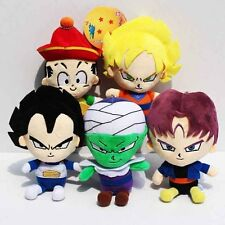 Lot 6pcs Anime Dragon Ball Z Super Saiyan Plush Doll Toys Son Goku Vegeta Gohan