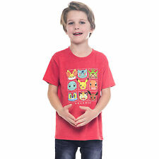 Pokemon Characters Red Youth Boys T-Shirt