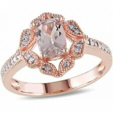 4/5 Carat T.G.W. Morganite and Diamond-Accent 10kt Pink Gold Cocktail Ring. Free