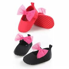 Newborn Baby Girl Shoes Soft Shoes Bownot Soft Soled Non-slip Bowknot Shoes AU