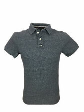 Mens Size XL Superdry Classic Grindle Pique Polo Shirt in Navy Grit Grindle