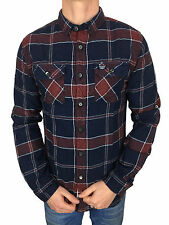 SALE £38.50 // Mens Superdry Refined Lumberjack Shirt Navy Tundra Check Large