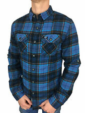 SALE £38.50 // Superdry Mens Refined Lumberjack Shirt Séance Blue Check Medium