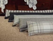 Draught Excluder heavy weight - inc Next fabrics stripes and checks 1.9kg