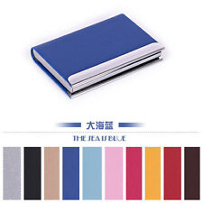 HOT Practical beautiful Leather Business Credit ID Card Holder Case Wallet Gift