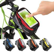 New Waterproof Cycling Bike Bicycle Front Frame Pannier Tube Bag Cell Phone Y2X2