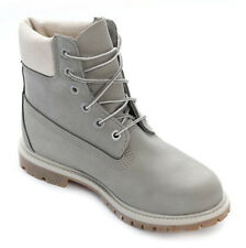 Timberland 6 Inch Premium A196J W Grey Leather Womens Boots