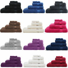 LUXURY 100% EGYPTIAN COTTON 600 GSM FACE CLOTH HAND BATH TOWEL SHEET BALE SET