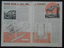 Cement/Feed Mixer Build from 55 gallon drum How-To build PLANS