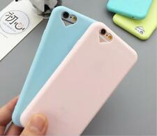 Silicone Cute Candy Heart Rubber Gel TPU Case Cover For Apple iphone 7 7 plus 6s