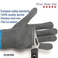 Stainless Steel Wire Fishing Fillet Gloves Cut Resistant Thread Tool Gloves 1pc