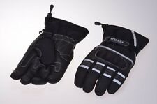 Motorcycle gloves motorcycle gloves Scooter Moped Leather short black Size M-XL