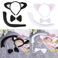 Animal Tail & Ear Headband & Bow Tie 3 pcs Tail Party Little Cat Christmas LO