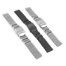 StrapsCo H-Link Stainless Steel Shark Mesh Strap Watch Band for Omega Proplof