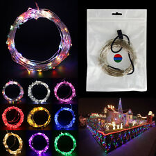 12V 10M 100Led Silver Wire Led Starry Lights String Fairy party Decoration