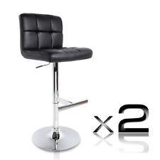 2x Elegant Bar Stools PU Leather Kitchen Dining Chair Adjustable Height Gas Lift