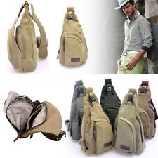 Mens Canvas Satchel Casual CrossBody Handbag Messenger Bike Shoulder Bag Vintage