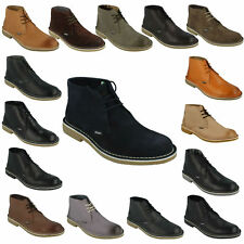 MENS LAMBRETTA CARNABY2 LG14131 CANARY LACE UP SUEDE LEATHER SMART DESERT BOOTS