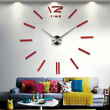 Creative DIY Home Living Room Modern Personal Art Wall Sticker Clock Sticker AU