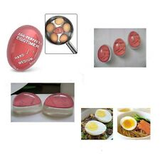 Egg Perfect Color Changing Timer Yummy Boiled Eggs + Spring Wire Egg Cup LU#~