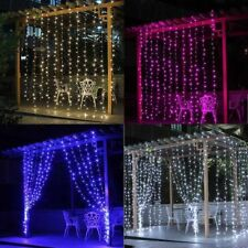 300/600 LED Fairy Curtain Lights Christmas Wedding Party Garden Tree In/Outdoor