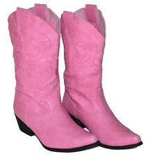 Womens PINK Calf High Cowboy Boots, Western Shoes, NEW, Fast Shipping, New w Box