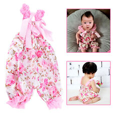 One Piece Satin Baby Girls Toddler Kids Floral Romper Suit Jumpsuit Outfits New