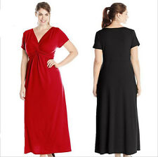 02 Women Lady Long Maxi Formal Summer V Evening Cocktail Party Plus Size dress