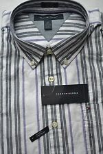 NWT Tommy Hilfiger Mens Long Sleeve Button Down Stripe Shirt Multicolor Large
