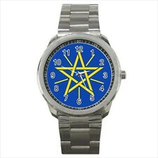 Ethiopia Emblem Stainless Steel Sport Watch - Tabard Surcoat