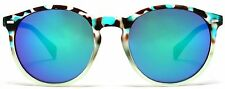 Florence Round Wayfarer Sunglasses Brown Blue
